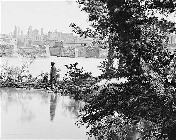 Civil War Bridge Ruins in Richmond Virginia Photo Print for Sale