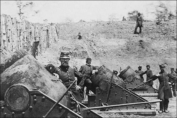 Civil War Mortars in Yorktown, New York Photo Print for Sale