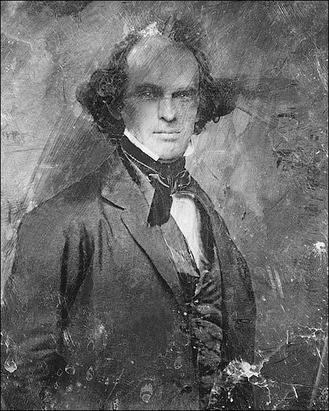Nathaniel Hawthorne Daguerreotype Portrait Photo Print for Sale