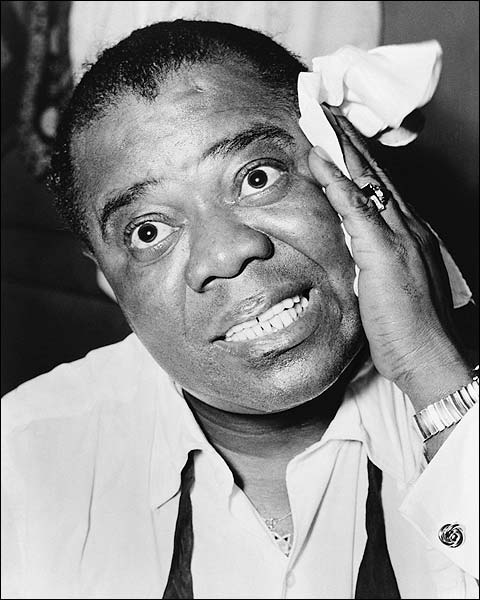 Musician Louis Armstrong Portrait Photo Print for Sale