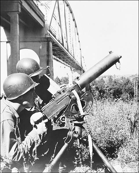 WWII Heavy Machine Gun Crew Soldiers Photo Print for Sale
