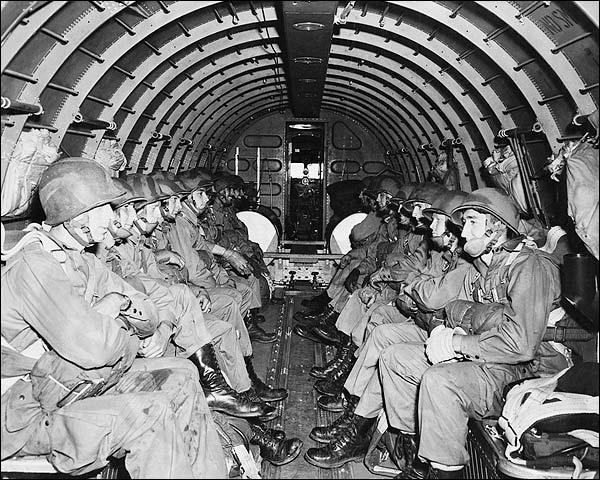 WWII Airborne Paratroopers Ready to Jump Photo Print for Sale