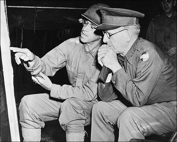 WWII General Omar Bradley & McNair Photo Print for Sale