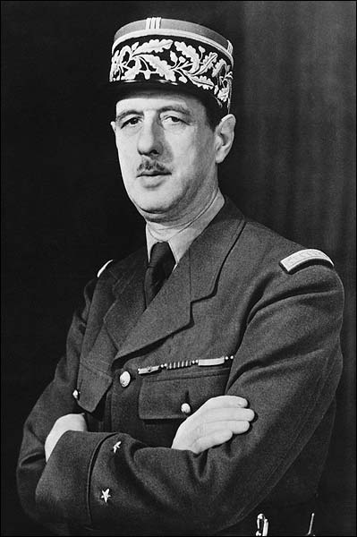WWII French General Charles De Gaulle Photo Print for Sale