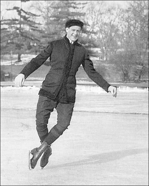Ice Skater Irving Brokaw Central Park Lake Photo Print for Sale