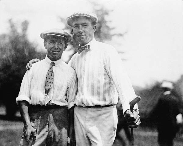 Golfer Walter Hagen & Louis Tellier Golf Photo Print for Sale