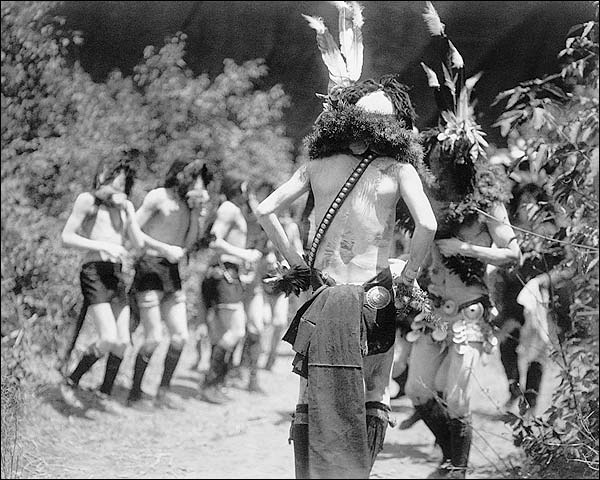 Navajo Men Yebichai Ritual Edward S. Curtis Photo Print for Sale
