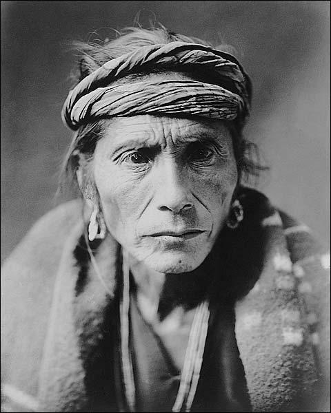 Navajo Indian Man Edward S. Curtis Portrait Photo Print for Sale
