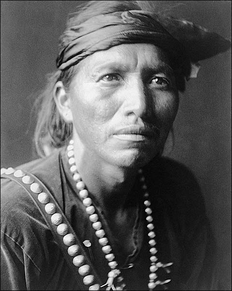 Navajo Indian White Singer Edward S. Curtis Photo Print for Sale