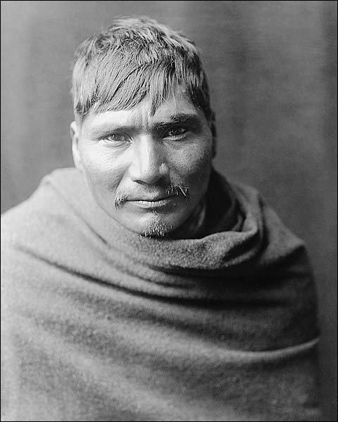 Yaqui Indian Man, Edward S. Curtis Portrait Photo Print for Sale