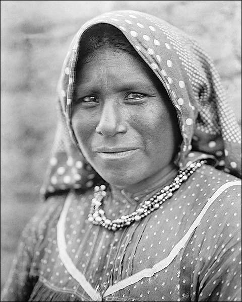 Yaqui Matron Edward S. Curtis Portrait 1907 Photo Print for Sale
