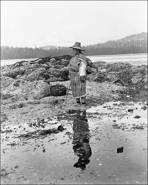 Nakoaktok Indian Man Edward S. Curtis Photo Print for Sale