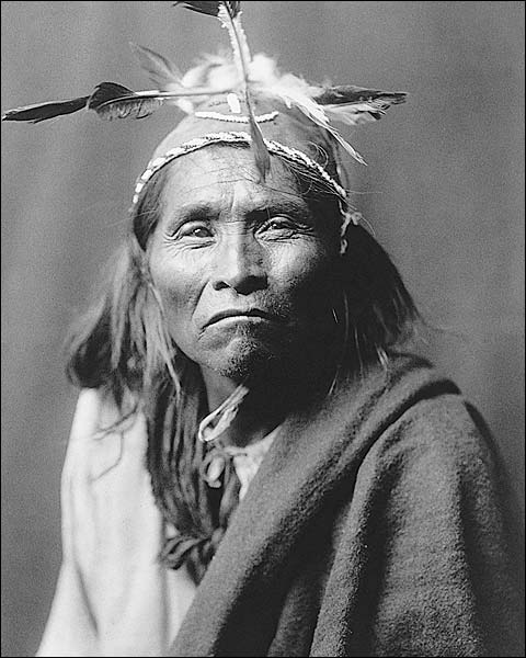Apache Indian Edward S. Curtis Portrait Photo Print for Sale