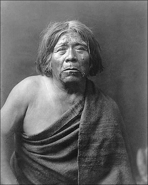 Maricopa Indian Edward S. Curtis Portrait Photo Print for Sale