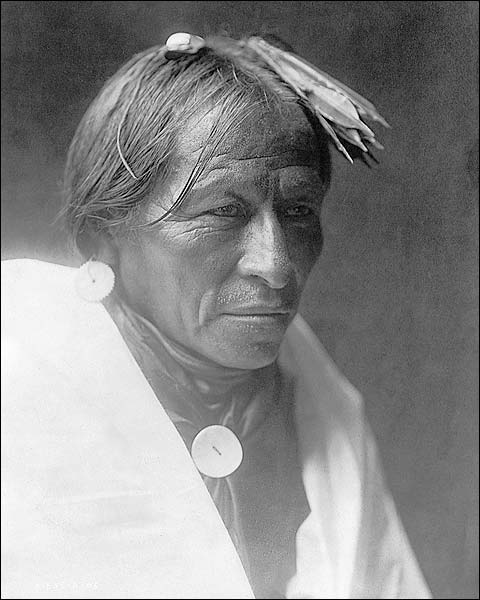 Man of Taos Edward S. Curtis Portrait 1905 Photo Print for Sale