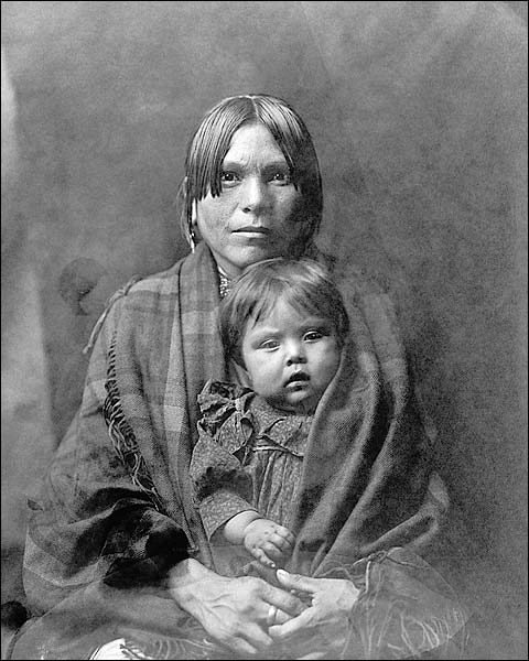 Indian Mother & Child Edward S. Curtis 1905 Photo Print for Sale