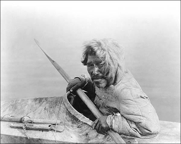 Noatak Seal Hunter Edward S. Curtis Portrait Photo Print for Sale