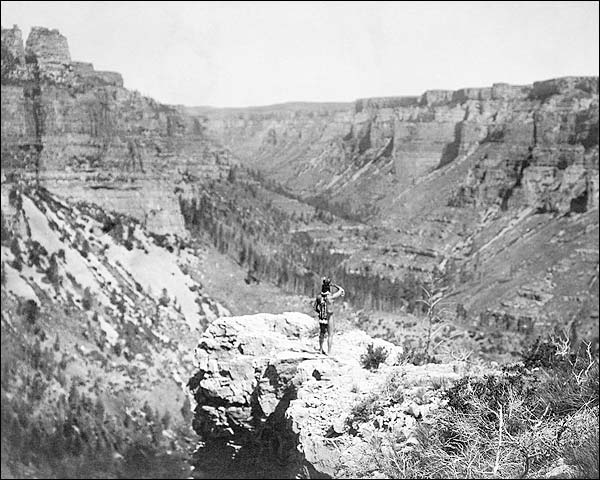 Crow Indian Black Canyon Colorado 1905 Photo Print for Sale