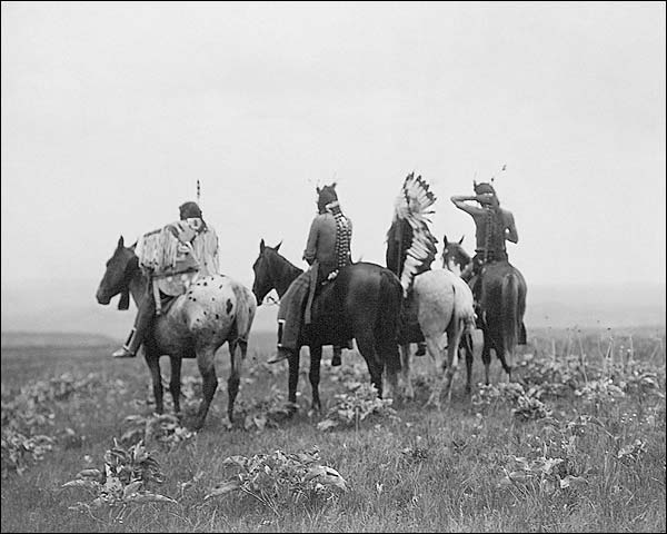 Crow Indians in Montana Edward S. Curtis Photo Print for Sale