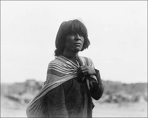 Hopi Farmer Indian Man Edward S. Curtis  Photo Print for Sale