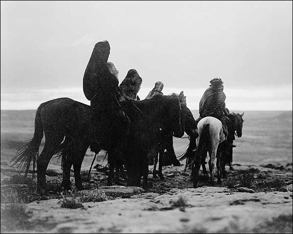 Hopi Indians on Horseback Edward S. Curtis Photo Print for Sale