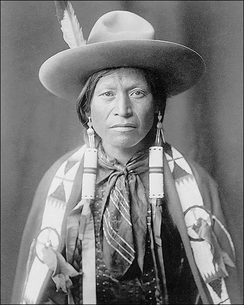 Jicarilla Indian Cowboy Edward S. Curtis Photo Print for Sale