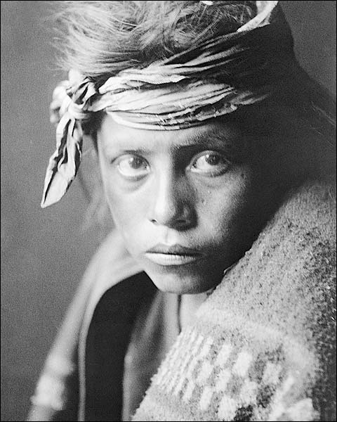 Navajo Youth Edward S. Curtis Portrait 1906 Photo Print for Sale