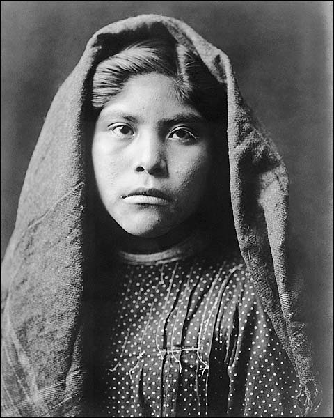 Pima Indian Girl Edward S. Curtis Portrait Photo Print for Sale