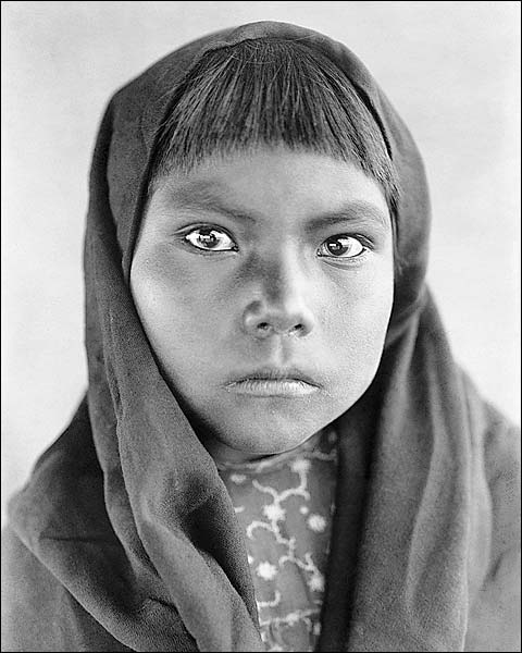 Qahatika Indian Child Edward S. Curtis Photo Print for Sale