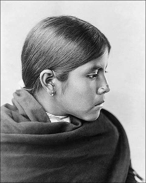 Qahatika Indian Girl Edward S. Curtis 1907 Photo Print for Sale