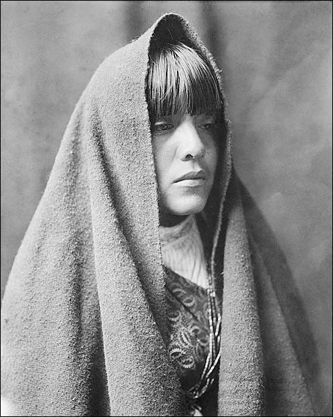 Tewa Indian Girl Edward S. Curtis Portrait Photo Print for Sale