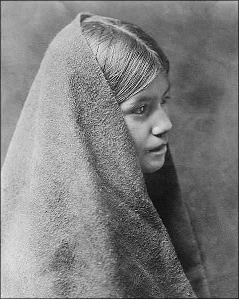 Native American Tewa Girl Edward S. Curtis Photo Print for Sale