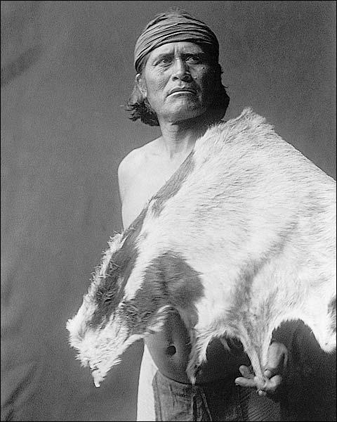 Hopi Indian Goat Man Edward S. Curtis 1906 Photo Print for Sale