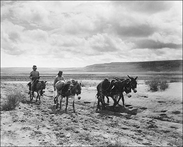 Moki Indian Men on Road Edward S Curtis Photo Print for Sale