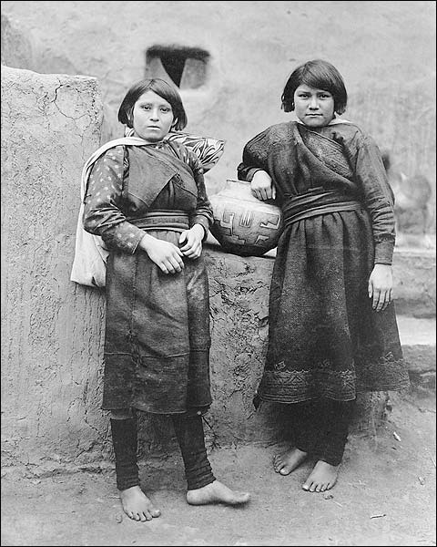 Zuni Indian Girls Pueblos Edward S. Curtis Photo Print for Sale