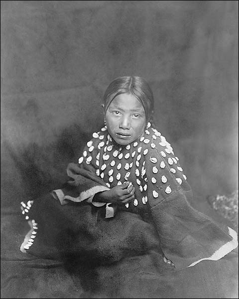 Sioux Indian Child Edward S. Curtis Portrait Photo Print for Sale