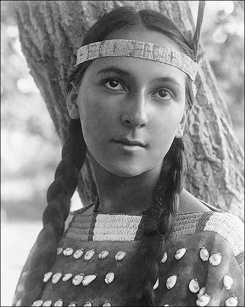 Dakota Woman Edward S. Curtis Portrait Photo Print for Sale
