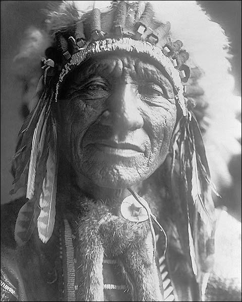 Dakota Indian Man Edward S. Curtis Portrait Photo Print for Sale