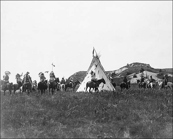 Sioux Warriors Horseback Edward S. Curtis Photo Print for Sale