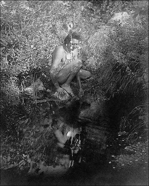 Crow Indian Reflective Pool Edward S. Curtis Photo Print for Sale