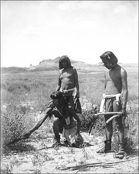 Hopi Indian Catch Snake Edward S. Curtis Photo Print for Sale