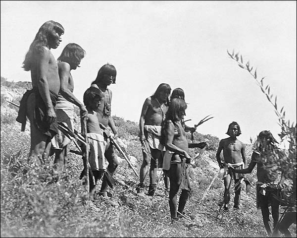 Hopi Indian Snake Hunt Edward S. Curtis 1907 Photo Print for Sale