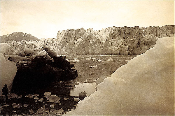 Alaska Glaciers Edward S. Curtis 1889 Photo Print for Sale