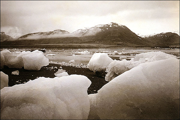 Icebergs, Mountains, Alaska Edward S. Curtis Photo Print for Sale