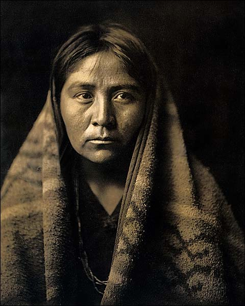 Navajo Indian Edward S. Curtis Portrait 1904 Photo Print for Sale