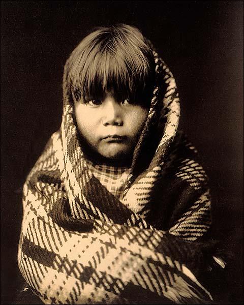 Navajo Child Edward S. Curtis Portrait 1904 Photo Print for Sale