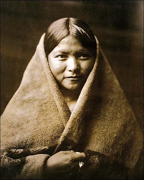 Navajo Belle Edward S. Curtis Portrait 1904 Photo Print for Sale