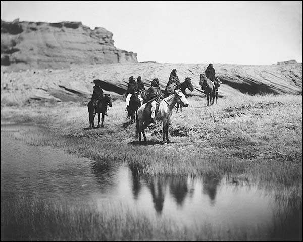 Navajo Indians on Horseback Edward S. Curtis Photo Print for Sale