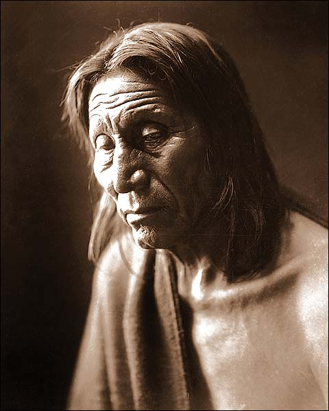 Native American Big Head Edward S. Curtis Photo Print for Sale