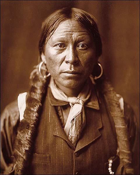 Jicrilla Indian Edward S. Curtis Portrait Photo Print for Sale